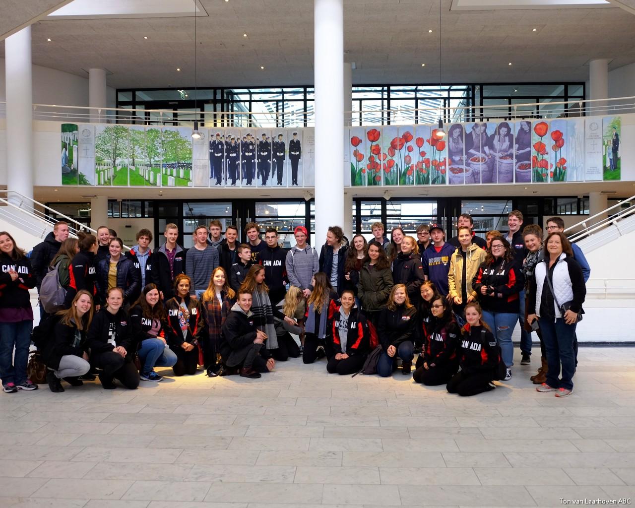 Studenten uit Burlingtin in Apeldoorn